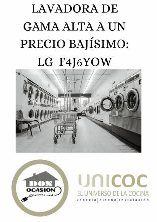 UNA LAVADORA DE GAMA ALTA DE UN PRECIO BAJÍSIMO: LG F4J6JY0W
